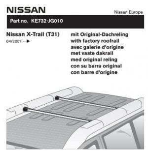 Nissan Tagbøjler til Xtrail (T31 med rælling)